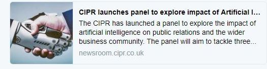 CIPR launches AI panel tweet