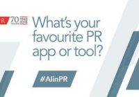 "Logo ""What's your favourite PR app or tool?"""