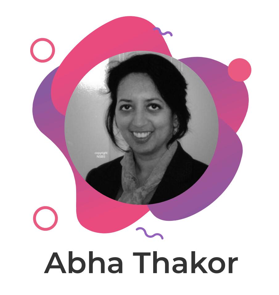 Abha's photo in the WordFest logo branding